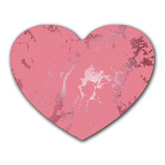 Luxurious Pink Marble Heart Mousepads by tarastyle