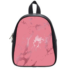 Luxurious Pink Marble School Bag (small) by tarastyle