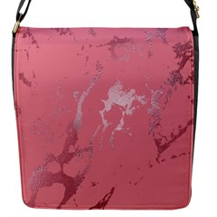 Luxurious Pink Marble Flap Messenger Bag (s) by tarastyle