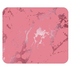 Luxurious Pink Marble Double Sided Flano Blanket (small)  by tarastyle