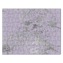 Luxurious Pink Marble Rectangular Jigsaw Puzzl by tarastyle