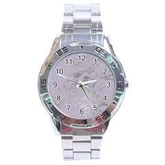 Luxurious Pink Marble Stainless Steel Analogue Watch by tarastyle