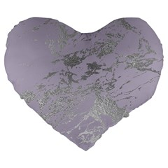 Luxurious Pink Marble Large 19  Premium Heart Shape Cushions by tarastyle