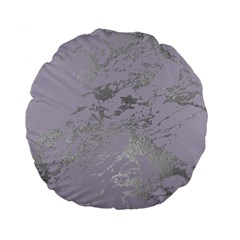 Luxurious Pink Marble Standard 15  Premium Flano Round Cushions by tarastyle