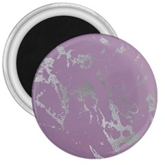 Luxurious Pink Marble 3  Magnets by tarastyle