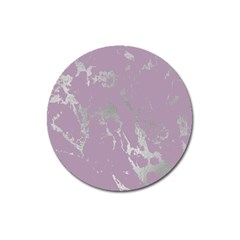 Luxurious Pink Marble Magnet 3  (round) by tarastyle