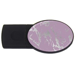 Luxurious Pink Marble Usb Flash Drive Oval (2 Gb) by tarastyle