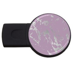 Luxurious Pink Marble Usb Flash Drive Round (4 Gb) by tarastyle