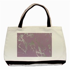 Luxurious Pink Marble Basic Tote Bag (two Sides) by tarastyle