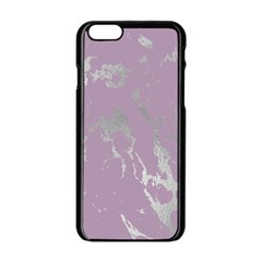 Luxurious Pink Marble Apple Iphone 6/6s Black Enamel Case by tarastyle