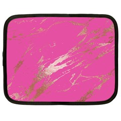 Luxurious Pink Marble Netbook Case (xxl)  by tarastyle