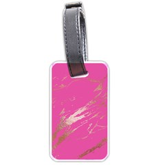 Luxurious Pink Marble Luggage Tags (one Side)  by tarastyle