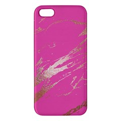Luxurious Pink Marble Apple Iphone 5 Premium Hardshell Case by tarastyle