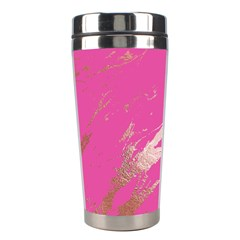 Luxurious Pink Marble Stainless Steel Travel Tumblers by tarastyle