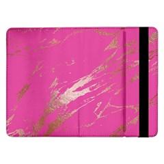 Luxurious Pink Marble Samsung Galaxy Tab Pro 12 2  Flip Case by tarastyle
