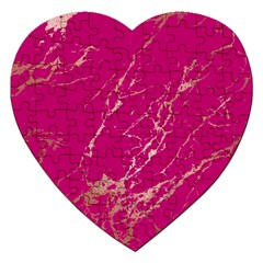 Luxurious Pink Marble Jigsaw Puzzle (heart) by tarastyle