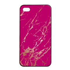 Luxurious Pink Marble Apple Iphone 4/4s Seamless Case (black) by tarastyle