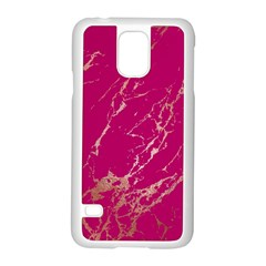 Luxurious Pink Marble Samsung Galaxy S5 Case (white) by tarastyle