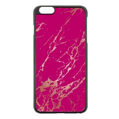 Luxurious Pink Marble Apple Iphone 6 Plus/6s Plus Black Enamel Case by tarastyle
