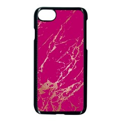 Luxurious Pink Marble Apple Iphone 8 Seamless Case (black)