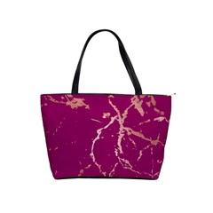 Luxurious Pink Marble Shoulder Handbags by tarastyle