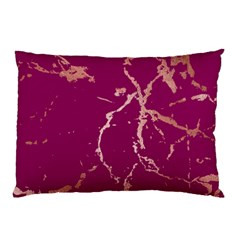 Luxurious Pink Marble Pillow Case (two Sides) by tarastyle