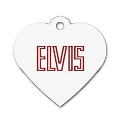 Elvis Presley Dog Tag Heart (one Side) by Valentinaart