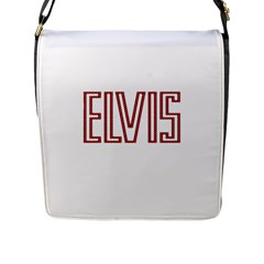 Elvis Presley Flap Messenger Bag (l)  by Valentinaart