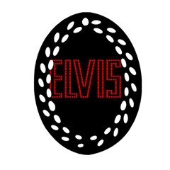 Elvis Presley Oval Filigree Ornament (two Sides) by Valentinaart