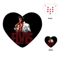 Elvis Presley Playing Cards (heart)  by Valentinaart