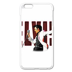 Elvis Presley Apple Iphone 6 Plus/6s Plus Enamel White Case by Valentinaart