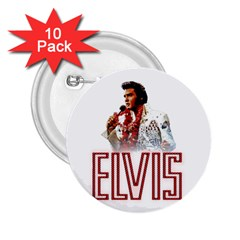 Elvis Presley 2 25  Buttons (10 Pack)  by Valentinaart