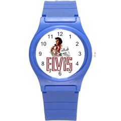 Elvis Presley Round Plastic Sport Watch (s) by Valentinaart