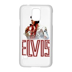 Elvis Presley Samsung Galaxy S5 Case (white) by Valentinaart