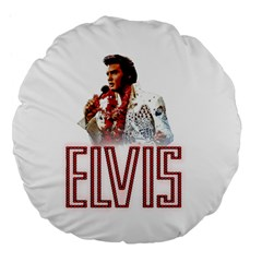 Elvis Presley Large 18  Premium Flano Round Cushions by Valentinaart