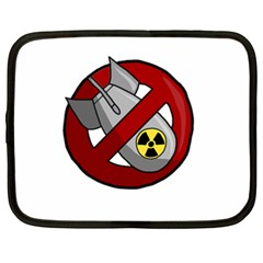No Nuclear Weapons Netbook Case (xxl)  by Valentinaart