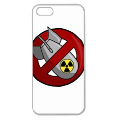 No Nuclear Weapons Apple Seamless Iphone 5 Case (clear)