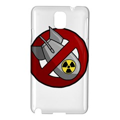 No Nuclear Weapons Samsung Galaxy Note 3 N9005 Hardshell Case by Valentinaart