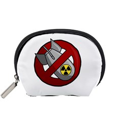 No Nuclear Weapons Accessory Pouches (small)  by Valentinaart