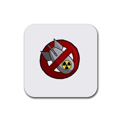 No Nuclear Weapons Rubber Square Coaster (4 Pack)  by Valentinaart