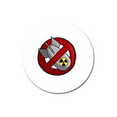 No Nuclear Weapons Magnet 3  (round) by Valentinaart