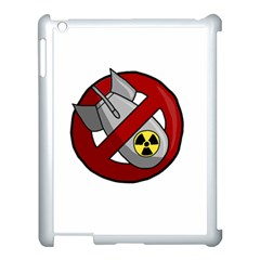 No Nuclear Weapons Apple Ipad 3/4 Case (white) by Valentinaart
