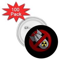 No Nuclear Weapons 1 75  Buttons (100 Pack)  by Valentinaart