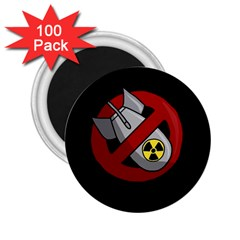 No Nuclear Weapons 2 25  Magnets (100 Pack)  by Valentinaart