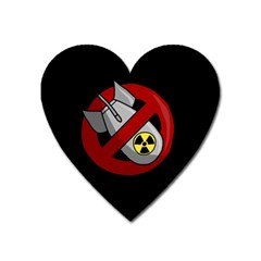 No Nuclear Weapons Heart Magnet by Valentinaart