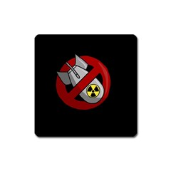 No Nuclear Weapons Square Magnet by Valentinaart