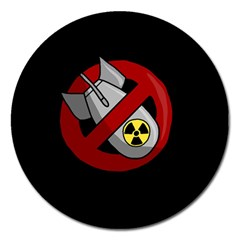No Nuclear Weapons Magnet 5  (round) by Valentinaart