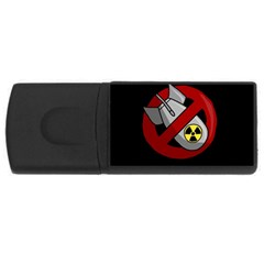 No Nuclear Weapons Rectangular Usb Flash Drive by Valentinaart