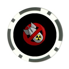No Nuclear Weapons Poker Chip Card Guard by Valentinaart