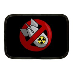 No Nuclear Weapons Netbook Case (medium)  by Valentinaart